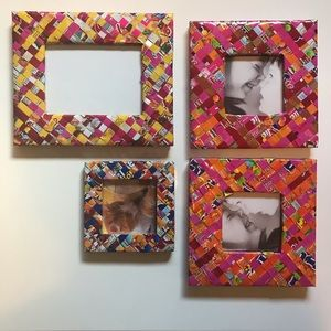 Other - Candy Wrapper Artisan Picture Frames (Set of 4)